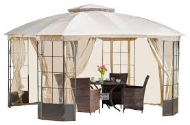 Gazebo Awning Somerset Outdoor Steel Gazebo Canopy With Tan Cover Contemporary