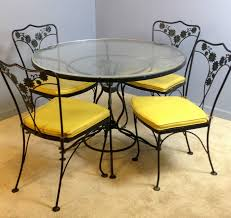 wrought iron patio table and chairs genuine woodard patio table dinette dining chairs set vintage