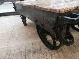 Industrial Cart Coffee Table Factory Cart Coffee Table Hometalk