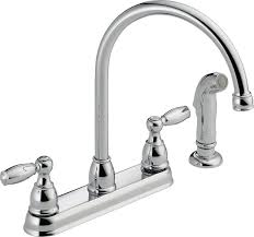 Older Delta Kitchen Faucets by Delta Faucet 21988lf Two Handle Kitchen Faucet With Spray Chrome