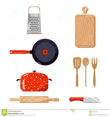 kitchen stuff color vector illustration stock vector image