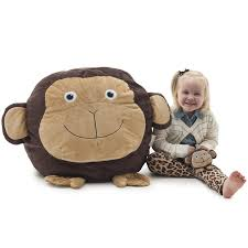 Big Joe Kids Bean Bag Chair Amazon Com Big Joe Bean Bagimal Maya The Monkey Kitchen U0026 Dining
