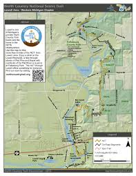 White Lake Michigan Map by Trail Town U2013 Lowell Mi North Country Trail Association
