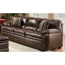 Simmons Leather Sofa Simmons Upholstery Editor Brown Bonded Leather Sofa With Timbuktu