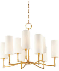 Aged Brass Chandelier Hudson Valley 369 Dillon 30 Inch Wide 9 Light Chandelier Capitol