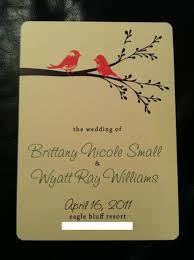 programs for a wedding bird wedding programs weddingbee photo gallery