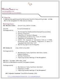 resume sles for fresh graduates bcom resume format for bcom students with no experience menu and resume