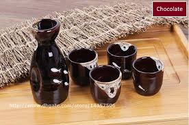 wine sets traditional japanese sake wine sets ceramic sake bottle and cup