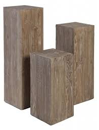 wood display samoa wood pedestal from miyo home