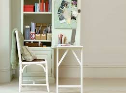 how to turn any bookshelf into a fold out desk apartment therapy