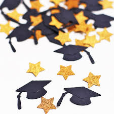 graduation decor c08 graduation cap and confetti graduation party