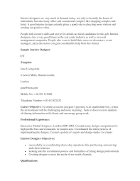 Resume Sample Interior Designer by Decorator Resume Sample