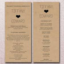 wedding ceremony program templates kraft wedding program template from paintthedaydesigns