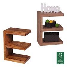 beistelltische landhaus finebuy beistelltisch massivholz e cube 60cm hoch wohnzimmer tisch