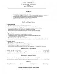 example resume for high students college applications
