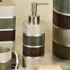 modern line sage striped bath accessories sage bathroom decor tsc modern line sage striped bath accessories