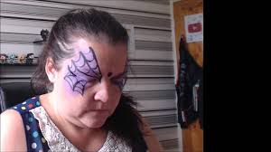 halloween facepaint ep 1 spider web youtube
