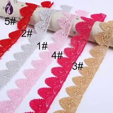 lace ribbon bulk gold floral water soluble lace trimming silver flower lace ribbon
