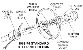 76 corvette parts 1969 76 standard steering column diagram view chicago corvette