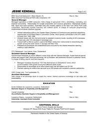 Example Bartender Resume Cv Examples Additional Skills