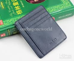 2017new mens fashion design casual credit card id holder