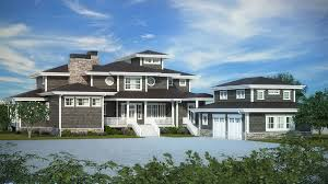 exciting shingle style house plan with wrap around porch 95035rw