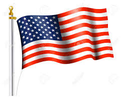 Flag Pole Express American Flag On Flag Pole Royalty Free Cliparts Vectors And