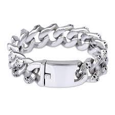 man stainless bracelet images 2018 male accessories famous brand punk skull bracelet for man jpg