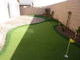 Putting Green In Backyard by Putting Greens In Las Vegas Nv Synthetic Putting Greens