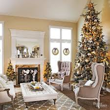 decorations christmas living room features silver christmas tree