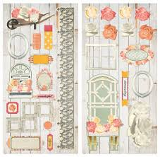 aryia s garden chipboard by bo bunny for scrapbooks cards crafting