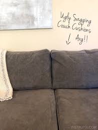 How To Fix Sofa Cushions Tip How To Fix Saggy Couch Cushions A Life Hack Everyone Should