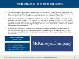 Sample Resume For Non Experienced Applicant by Mckinsey Resume Sample