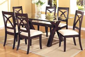 Dining Room Table Sets Leather Chairs by Glass Dining Table With 6 Chairs U2013 Mitventures Co