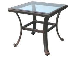Patio Side Tables Patio Ideas Exteriorold Style Small Square Glass Top Patio End