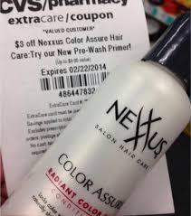Nexxus Color Assure Pre Wash Primer - cvs deal nexxus color assure conditioner 1 49 ftm