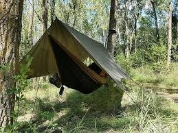 2 8m hammock tent camping backpacking rainfly tarp army green with