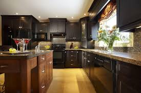paint colors for with dark brown cabinets kitchen and kitchens