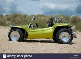 volkswagen beach beach buggy on a sandy beach vw beetle based dune buggy car stock