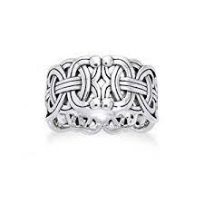 Viking Wedding Rings by Amazon Com Viking Braided Wedding Band Borre Knot Norse Celtic