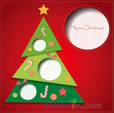 christmas greeting card design vector template free vector
