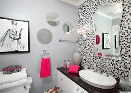 girls bathroom themes double wall mirrors upper down wall mount