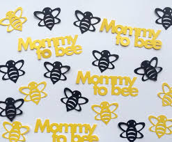 bumble bee baby shower confetti mommy to bee yellow and