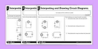 interpreting and drawing circuit symbols activity sheet