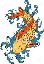 koi carp tattoo images japanese style koi carp fish hand drawn royalty free cliparts