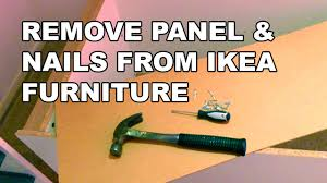 how to remove nails from ikea furniture youtube