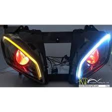 yamaha r6 halo lights yamaha r6 fiber optic projector headlight 08 16