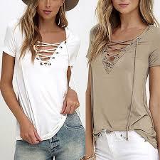 criss cross blouse 6 colors trendy t shirt v neck criss cross t shirt summer