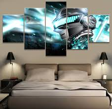 5 piece modern home decor picture daft punk music poster cuadros