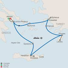 Aegean Sea Map Greek Vacation With Globus Escorted Tours